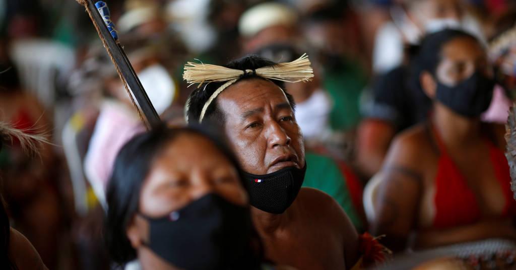 Placeholder - loading - Indígenas assistem ao julgamento do STF em caso histórico sobre os direitos à terra indígena em Brasília 08/09/2021 REUTERS/Adriano Machado