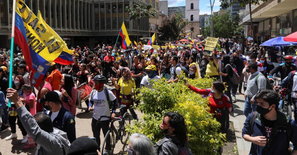 Placeholder - loading - Manifestação em Bogotá  19/5/2021   REUTERS/Luisa Gonzalez