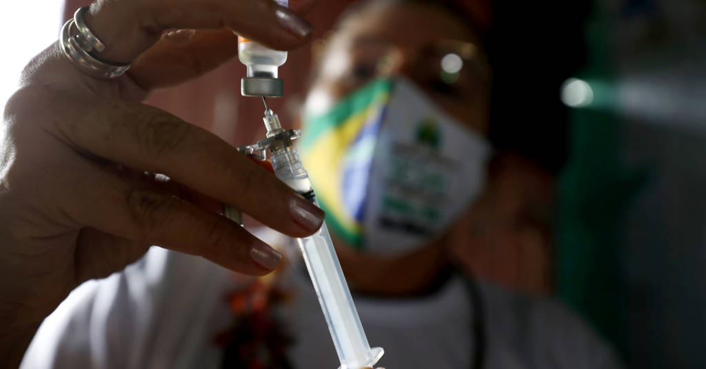 Placeholder - loading - Vacinação contra Covid-19 em Manaus 13/2/2021 REUTERS/Bruno Kelly