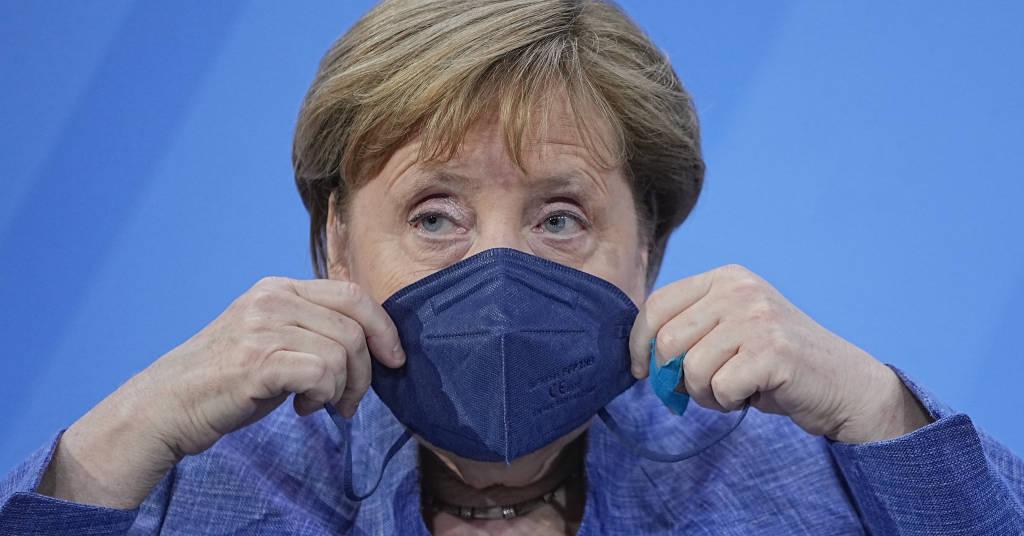 Placeholder - loading - Chanceler alemã, Angela Merkel, durante reunião com governadores de Estados do país em Berlim 10/06/2021 Michael Kappeler/Pool via REUTERS