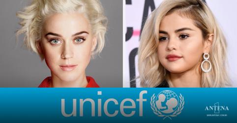 Placeholder - loading - Imagem da notícia Katy Perry, Selena Gomez e outros artistas assinam carta da UNICEF