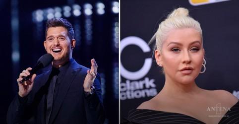 Placeholder - loading - Imagem da notícia Michael Bublé e Christina Aguilera farão apresentações caseiras para Disney!