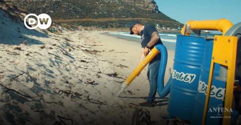 """Placeholder - loading - O """"aspirador gigante"""" contra o lixo nas praias"""