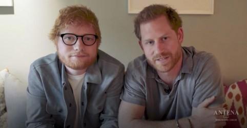 Placeholder - loading - Imagem da notícia Ed Sheeran e Príncipe Harry se reúnem em vídeo