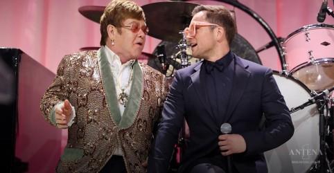 Elton John e Taron Egerton se reúnem para show inédito