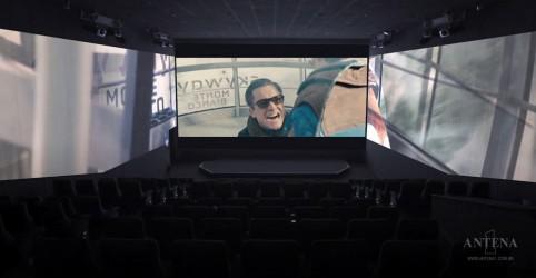 Conheça o cinema do futuro que possui três telas gigantes