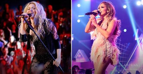 Placeholder - loading - Imagem da notícia Shakira e J.Lo prometem melhor show do Super Bowl