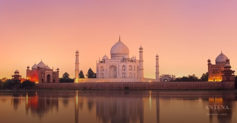 Taj Mahal é uma das sete maravilhas do mundo mais populares nas mídias sociais