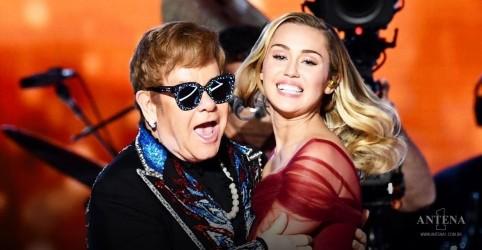 Placeholder - loading - Imagem da notícia Miley Cyrus anuncia cover de Metallica com participação de Elton John