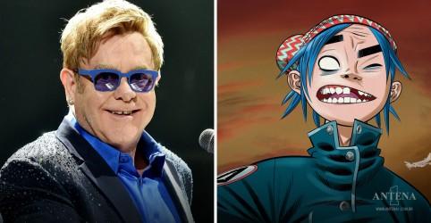 Placeholder - loading - Imagem da notícia Elton John lança música em parceria com Gorillaz; ouça