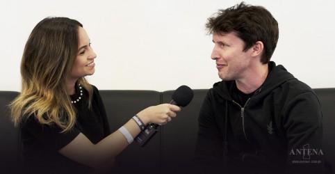 """""""O público é incrível, vocês têm música no sangue"""", diz James Blunt"""