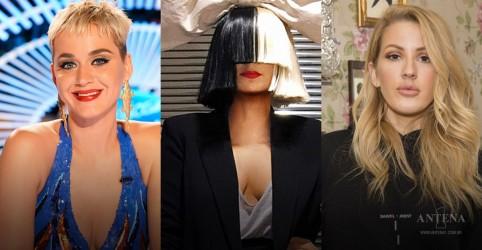 Katy Perry, Sia e Ellie Goulding cantam juntas em casamento