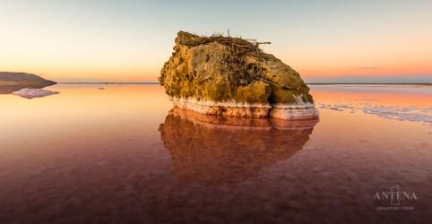 Lago com coloração rosa faz sucesso na Ucrânia e atrai inúmeros visitantes