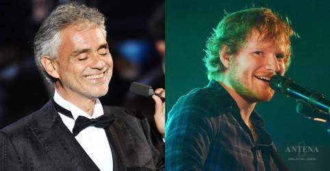 Placeholder - loading - Imagem da notícia Ed Sheeran fará parceria com Andrea Bocelli