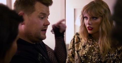 Placeholder - loading - Imagem da notícia Taylor Swift dança com James Corden