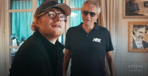 Placeholder - loading - Imagem da notícia Ed Sheeran canta com Andrea Bocelli
