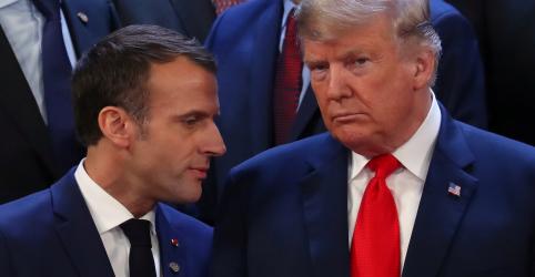Placeholder - loading - Imagem da notícia Trump ironiza Macron por protestos contra impostos sobre combustível