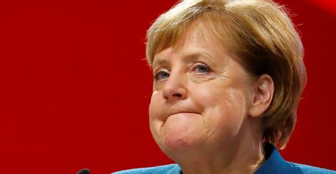 Placeholder - loading - 'Foi uma honra', diz Merkel ao se despedir da liderança de partido