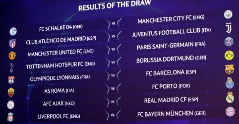 Bayern enfrenta Liverpool, PSG encara Manchester United nas oitavas da Liga dos Campeões