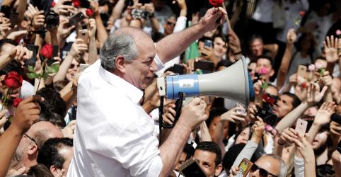 Ciro faz apelo por voto de convicção no primeiro turno e reitera críticas a Haddad