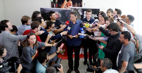 Haddad atribui crescimento de Bolsonaro a disseminação de fake news 'vulgares'