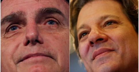Bolsonaro tem 40% dos votos válidos e Haddad aparece com 25%, diz Datafolha