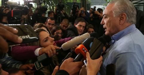 Brasileiros vão se unir depois das eleições, diz Temer