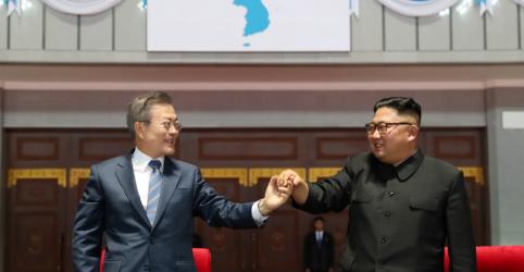 Placeholder - loading - Coreias concordam em reconectar estradas e ferrovias, mas EUA temem relaxamento de sanções
