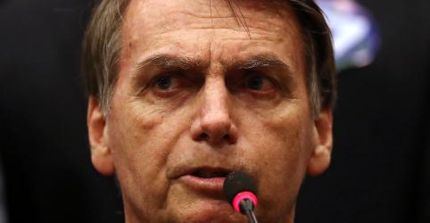 """Placeholder - loading - 'Esses marginais vermelhos serão banidos de nossa pátria"""", diz Bolsonaro"""