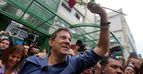 Haddad aponta 'forte tendência de alta' em intenção de voto e diz estar esperançoso