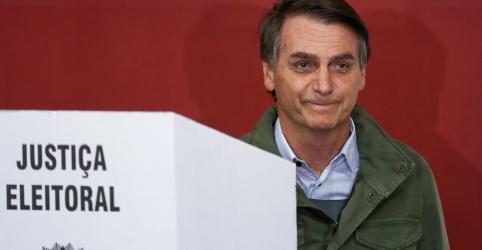 Placeholder - loading - Imagem da notícia Bolsonaro tem 55,7% contra 44,3% de Haddad com 88,44% das seções apuradas, diz TSE