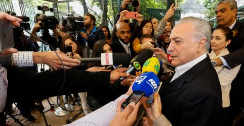 Placeholder - loading - Imagem da notícia Temer diz acreditar que Bolsonaro fará governo de 'paz e harmonia' e oferece tramitar Previdência ainda neste ano