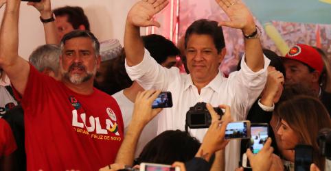 Placeholder - loading - Imagem da notícia Com 47 milhões de votos, PT vê caminho para Haddad liderar uma frente de oposição a Bolsonaro