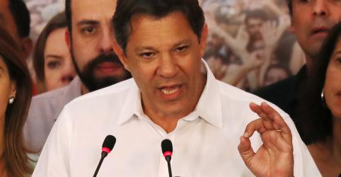 Haddad usa Twitter para desejar sorte a Bolsonaro, que agradece palavras de petista