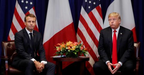 Placeholder - loading - Imagem da notícia Trump chama ideia de Macron sobre Exército europeu de 'muito insultante'