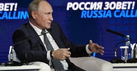 Putin acusa líder da Ucrânia de tramar conflito naval para aumentar popularidade