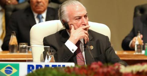 Placeholder - loading - Temer diz a líderes do Brics que Bolsonaro terá 'grande prazer' em recebê-los em cúpula no Brasil