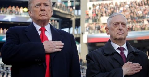 Chefe do Pentágono Jim Mattis renuncia e cita diferenças políticas com Trump