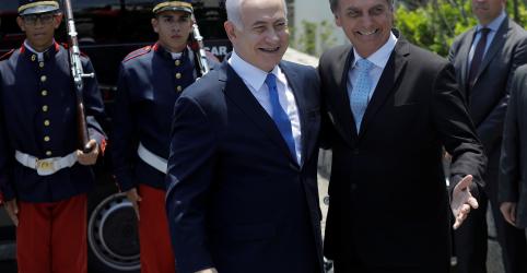 Placeholder - loading - Imagem da notícia Bolsonaro recebe Netanyahu em meio a aproximação entre Brasil e Israel