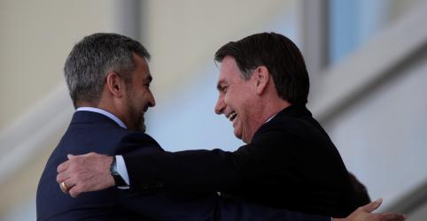 Placeholder - loading - Imagem da notícia Bolsonaro e presidente do Paraguai reafirmam apoio a Guaidó na Venezuela