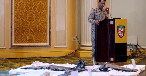 Arábia Saudita exibe destroços de armas e diz que envolvimento iraniano em ataque é inegável