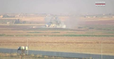 Placeholder - loading - Imagem da notícia Exército turco inicia ofensiva na Síria e ataques aéreos atingem cidade de fronteira