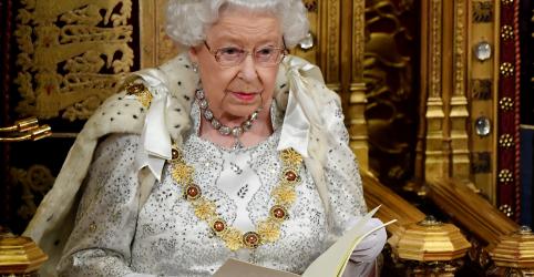 Rainha Elizabeth inclui Brexit em 31/10 entre prioridades da agenda política de Johnson