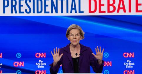 Warren sofre ataques sobre saúde e impostos em debate de pré-candidatos democratas dos EUA