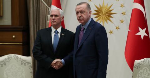 Vice-presidente dos EUA se encontra com Erdogan para pedir fim de ofensiva turca na Síria