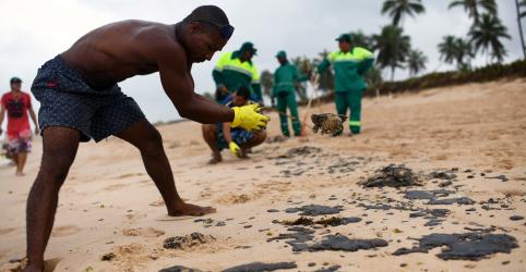 Placeholder - loading - Imagem da notícia Limpeza de óleo em praias do Nordeste deixa voluntários doentes