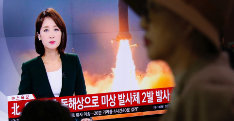 Coreia do Norte lança dois possíveis 'mísseis balísticos' no mar