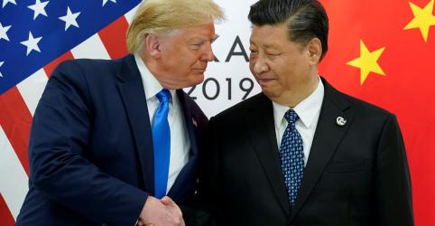 Trump diz que EUA e China anunciarão novo local para assinar acordo comercial em breve