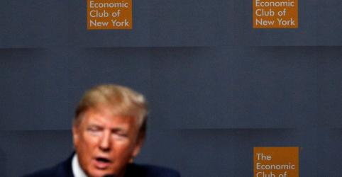 Placeholder - loading - Trump diz que acordo comercial com China está 'próximo', mas frustra expectativa de mais detalhes em evento em NY