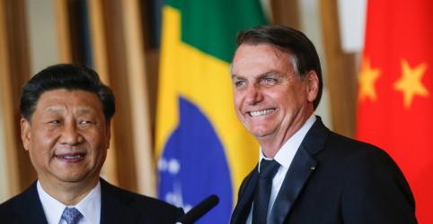 Em encontro com Xi Jinping, Bolsonaro defende ampliar e diversificar comércio com China